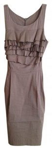 BCBGMAXAZRIA short dress Khaki Ruffled Sleeveless Pleat on Tradesy