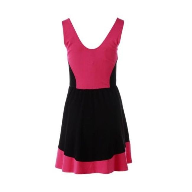 Aqua short dress Black Pink on Tradesy
