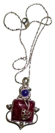 Other New Gemstone Pendant Necklace 18 inch 925 Silver Chain Large J928