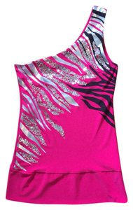 Max & K Top Pink and Silver