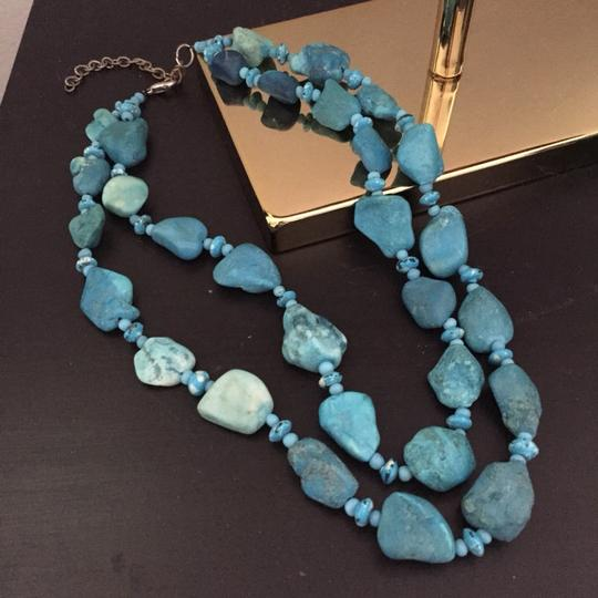 Other Bright Blue Stone Necklace
