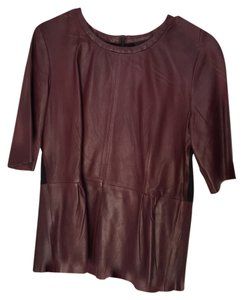 Trouvé Leather Datenight Top Burgundy