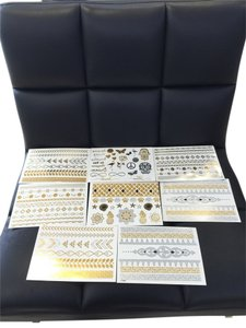 Dazzle Tat Set Of Metallic Flash Tattoos