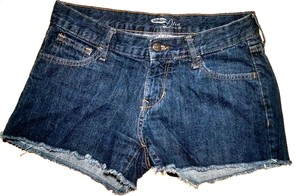 Old Navy Dark Wash P1413 Summersale Cut Off Shorts denim