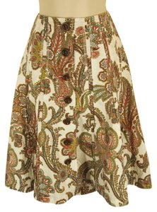 CAbi Skirt Multi Paisley