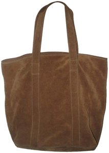 Banana Republic Suede Tote in Saddle Brown
