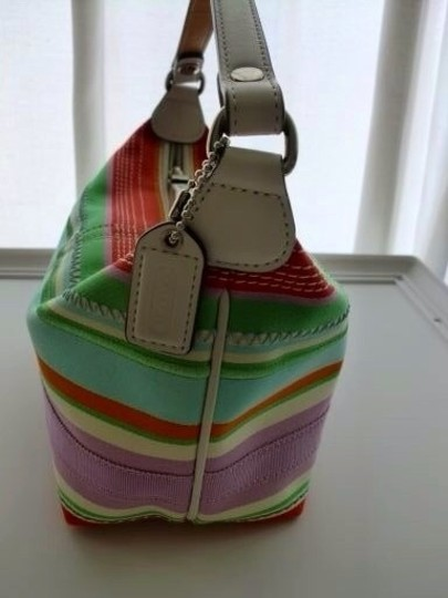 Coach Spring Multi-color Hampton Pouchette Baguette Summer Satchel in Multi