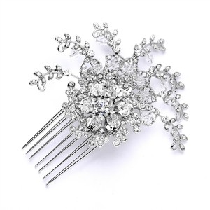 Mariell Top Selling Prom Or Wedding Crystal Spray Comb 4028hc-s