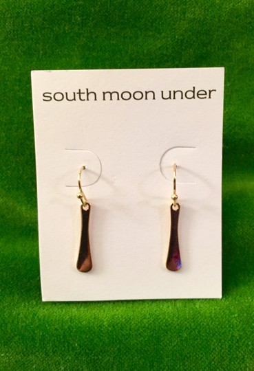 """South Moon Under South Moon Under gold tone drop """"Paddle"""" earrings"""