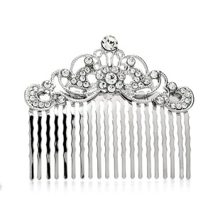 Mariell Vintage Crystal Swirls Bridal Or Prom Hair Comb 4226hc