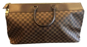 Louis Vuitton Luggage Overnight Jet Set Brown Leather Coated Canvas Dust Style Luxury Designer Damier Ebene Travel Bag