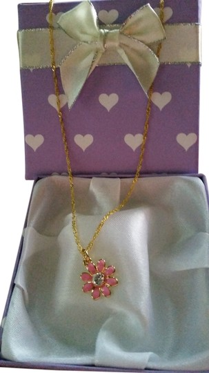 Other Handmade necklace.. Authentic Coach daisy charm with crystal center
