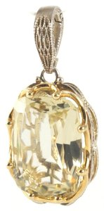 Tacori Tacori Sterling Silver 18K Yellow Gold Lemon Quartz Pendant Enhancer Oval .925