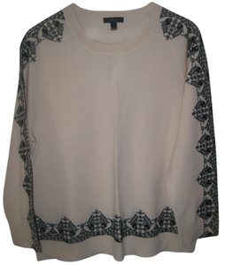 J.Crew Embroidered Lace Merino Sweater