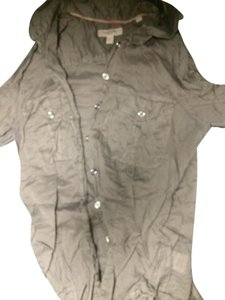 Burberry Button Down Shirt Khaki