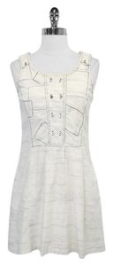 Charlotte Ronson short dress Ivory & Blue Print Cotton on Tradesy