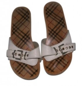 Burberry WHITE & NOVA CHECK Sandals