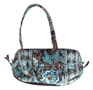 Vera Bradley Tote in Brown and Turqoise