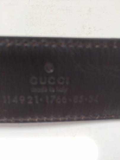 Gucci Vintage Gucci Red/Green Brown Leather Belt