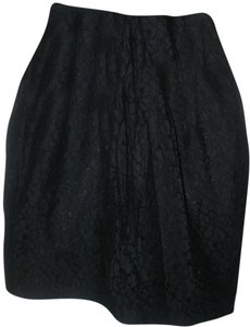 H&M Lace Lined Skirt Black