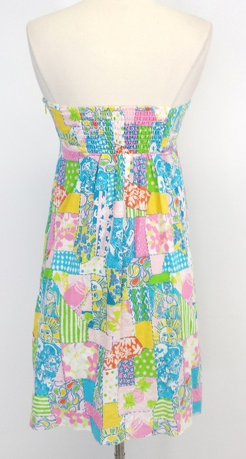 Lilly Pulitzer short dress Linen Cotton Strapless on Tradesy