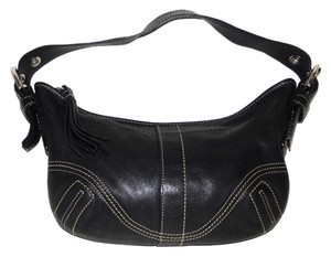 Coach Leather Soho Handbag Euc Tassel Nickel Hobo Bag