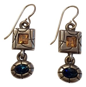 Patricial Locke Patricia Locke Earrings- blue & light amber
