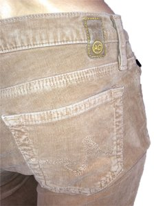 AG Adriano Goldschmied Cords Scoop 27 Flare Pants TAN