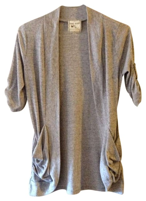 Item - Heather Grey With Pockets Short Sleeved Cardigan Size 12 (L)