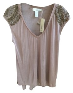 Isabel Lu Lu Taupe Sz Large Detail Bohemian Peasant Top