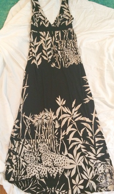 Black and cream Maxi Dress by Tibi