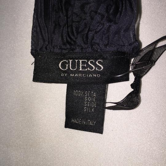Guess By Marciano Guess by Marciano 100% Silk Logo Print Accordion Pleated Scarf ( 70