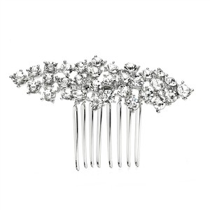 Mariell Best Selling Crystal Clusters Silver Wedding Or Prom Comb 4191hc-s-cr