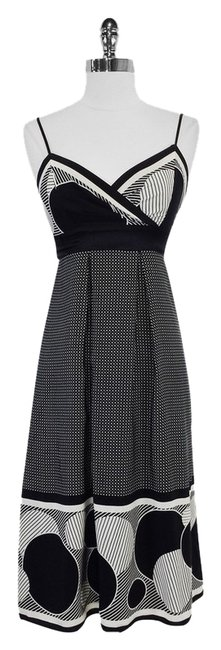 Preload https://item1.tradesy.com/images/ted-baker-black-and-white-print-silk-knee-length-short-casual-dress-size-4-s-3780715-0-0.jpg?width=400&height=650