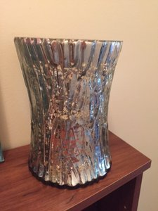 Gold & Silver Large Candle Holder