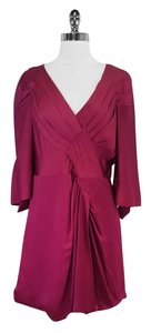 BCBGMAXAZRIA short dress Maroon Draped on Tradesy