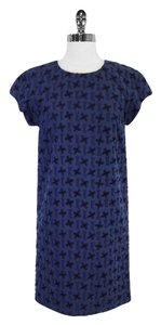 Bally short dress Navy & Black Textured Cotton on Tradesy