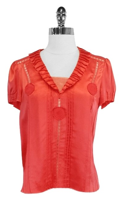 Preload https://img-static.tradesy.com/item/3781231/marc-jacobs-coral-silk-cutout-blouse-size-2-xs-0-0-650-650.jpg