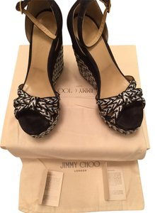 Jimmy Choo black/white/grey Wedges