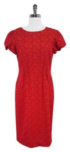 Lafayette 148 New York short dress Red Eyelet Cotton on Tradesy