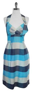 Nanette Lepore short dress Blue & gray Print Halter on Tradesy
