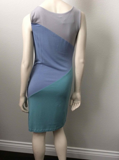 Jonathan Saunders short dress Grey, blue, green on Tradesy