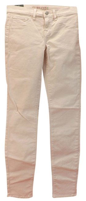 "Item - Soft Peach Light Wash 811 Mid Rise 11"" Leg Opening Pastel Romantic Skinny Jeans Size 25 (2, XS)"