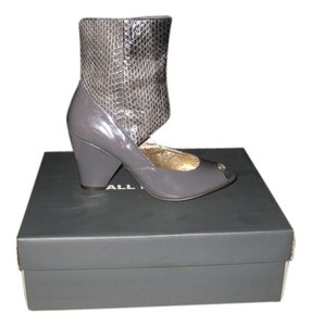 ALL BLACK Snakeskin GREY Boots
