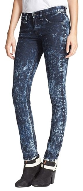 Rag & Bone Acid Wash Fashion Stylish Skinny Jeans-Acid
