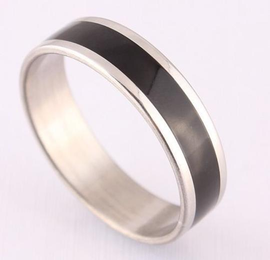 Preload https://item2.tradesy.com/images/silverblack-bogo-free-stainless-steel-enamel-free-shipping-men-s-wedding-band-3782641-0-0.jpg?width=440&height=440