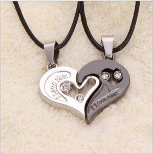 2pc Lovers Moms Daughters Puzzle Heart Necklaces Free Shipping