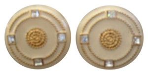 St. John Enamel Medallion Earrings