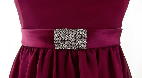 Alfred Angelo Berry Chiffon / Satin Style 7065 Casual Bridesmaid/Mob Dress Size 8 (M)