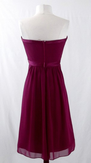 Alfred Angelo Berry Chiffon / Satin Style 7065 Casual Dress Size 8 (M)